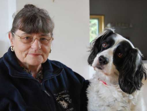 Carole MBE with dog