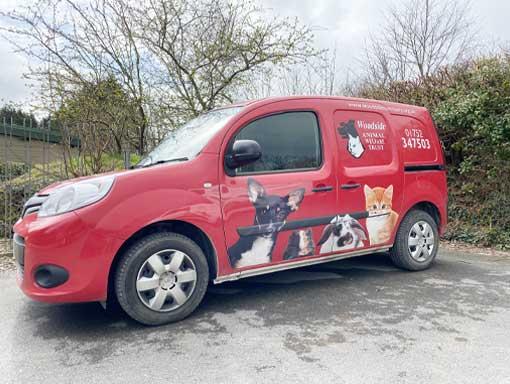 The Woodside Animal Trust red welfare van
