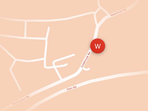 Woodside Colebrook Map
