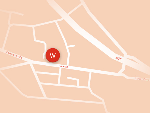 Woodside Saltash Map