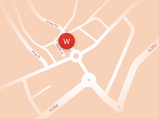 Woodside Tavistock Map